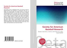 Bookcover of Society for American Baseball Research