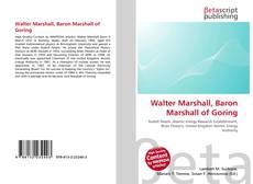 Bookcover of Walter Marshall, Baron Marshall of Goring