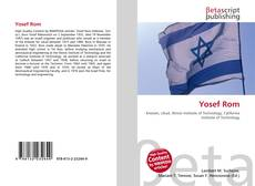 Capa do livro de Yosef Rom
