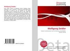 Couverture de Wolfgang Zeidler