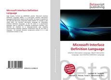 Copertina di Microsoft Interface Definition Language