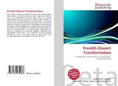 Capa do livro de Prandtl–Glauert Transformation