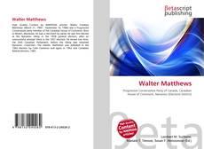 Bookcover of Walter Matthews