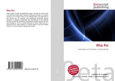 Bookcover of Rho Psi