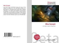 Buchcover von Rho Scorpii