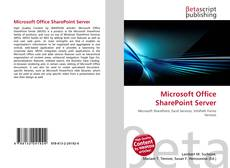 Buchcover von Microsoft Office SharePoint Server