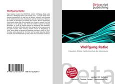 Buchcover von Wolfgang Ratke
