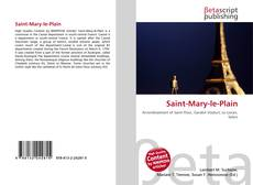 Portada del libro de Saint-Mary-le-Plain