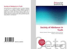 Обложка Society of Abidance in Truth