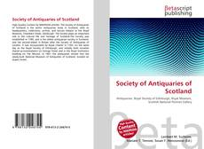 Bookcover of Society of Antiquaries of Scotland