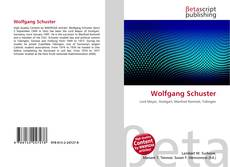 Bookcover of Wolfgang Schuster
