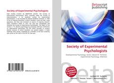 Bookcover of Society of Experimental Psychologists