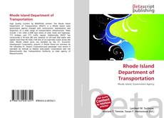 Rhode Island Department of Transportation kitap kapağı