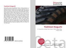 Portada del libro de Yoshinori Koguchi