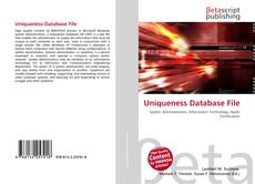 Copertina di Uniqueness Database File