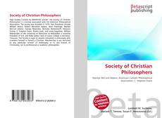 Bookcover of Society of Christian Philosophers
