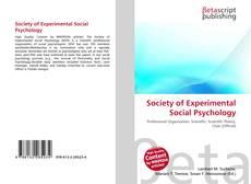 Buchcover von Society of Experimental Social Psychology