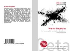 Bookcover of Walter Niephaus