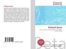Обложка Prakash Karat