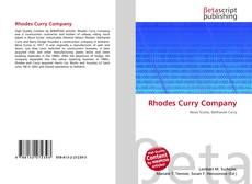 Bookcover of Rhodes Curry Company