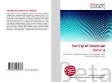 Borítókép a  Society of American Indians - hoz
