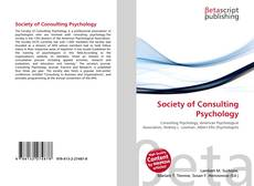 Society of Consulting Psychology的封面