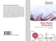 Bookcover of Robert Balfour (Philosopher)