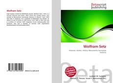 Wolfram Setz kitap kapağı