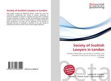Bookcover of Society of Scottish Lawyers in London