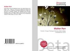 Portada del libro de Walter Parr