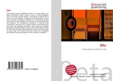 Bookcover of Ohr
