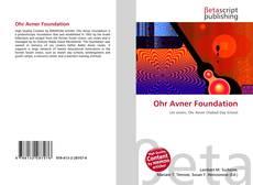 Buchcover von Ohr Avner Foundation