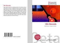 Buchcover von Ohr Records