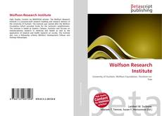 Bookcover of Wolfson Research Institute