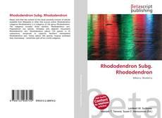 Copertina di Rhododendron Subg. Rhododendron