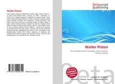Bookcover of Walter Piston