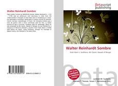 Bookcover of Walter Reinhardt Sombre