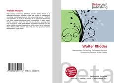 Buchcover von Walter Rhodes