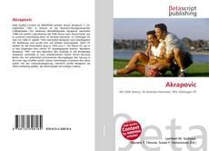 Bookcover of Akrapovic