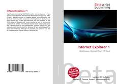 Bookcover of Internet Explorer 1