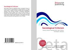Bookcover of Sociological Criticism