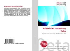 Bookcover of Palestinian Autonomy Talks