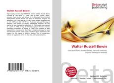 Bookcover of Walter Russell Bowie