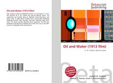 Capa do livro de Oil and Water (1913 film)