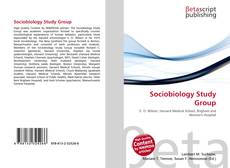 Bookcover of Sociobiology Study Group