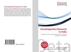 Bookcover of Sociolinguistics Research in India