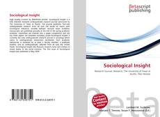 Bookcover of Sociological Insight