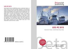 Bookcover of USS PC-815