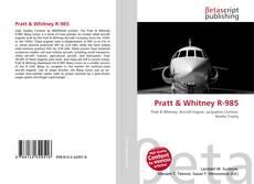 Capa do livro de Pratt & Whitney R-985