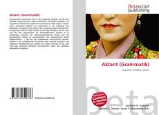 Bookcover of Aktant (Grammatik)